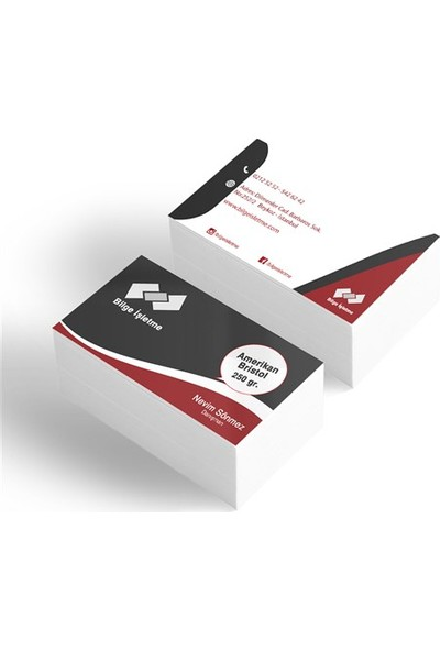 BuldumBuldum Standart Kartvizit 1000 Adet 350 gr Mat Kuşe
