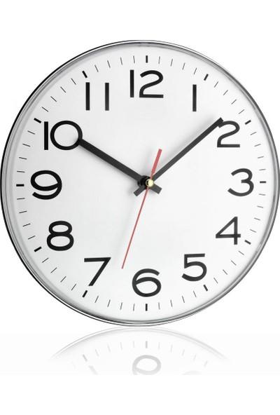 TFA Duvar Saati Beyaz