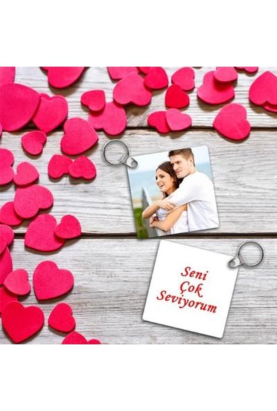 BuldumBuldum Sevgililere Özel Mesaj Ve Fotoğraf Baskılı Anahtarlık