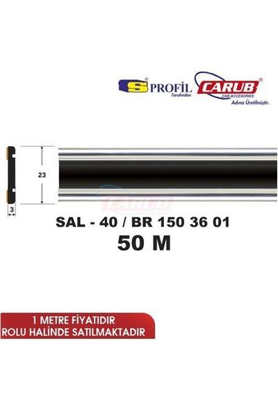 Salman Çıta Sal40 (23Mmx50 Metre) Kartal Dar Siyah Krom