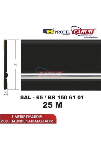 Salman Çıta Sal65 (60Mmx25 Metre) Kt Siyah Şerit Krom