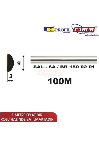 Salman Çıta Sal6A (9Mmx100 Metre) Krom