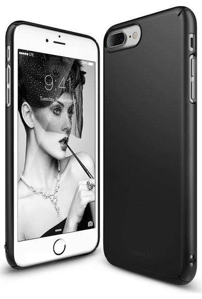 Ringke Slim iPhone 7/8 Plus Kılıf Sf Black - 4 Tarafı Saran Tam Koruma İnce Şık Tasarım