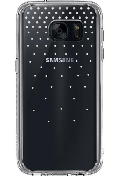 Ringke Noble Fusion Galaxy S7 Taşlı Kılıf Extra Darbe Emici - Snow Clear