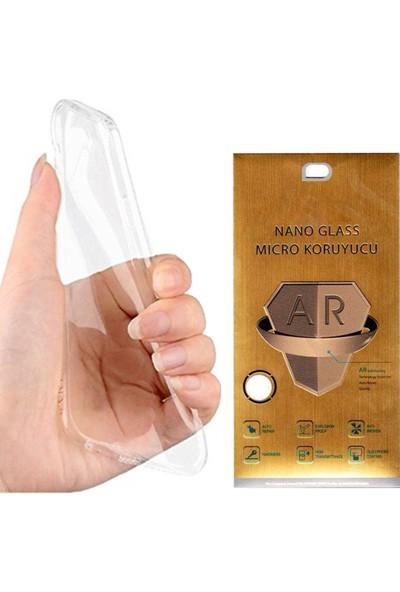 Exclusive Phone Case iPhone 7 Kılıf Silikon Koruma Şeffaf +Nano Mikro Koruyucu