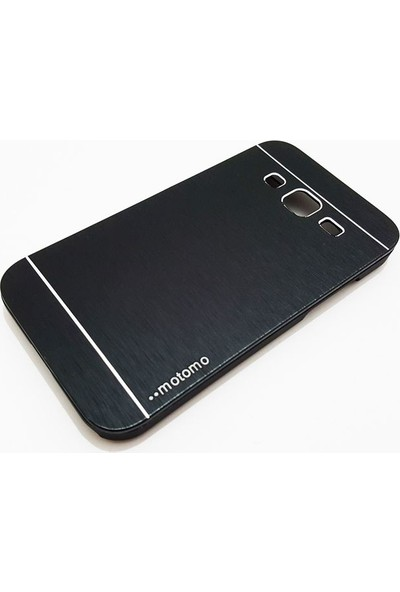 Motomo Samsung Galaxy J1 Motomo Siyah Metal Kılıf