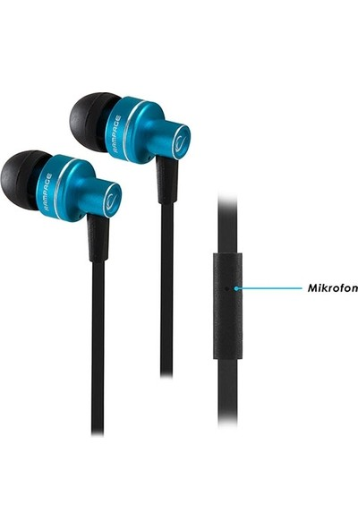 Rampage Phoenix Mobil Telefon Uyumlu Kulak İçi Mavi/Siyah Mikrofonlu Kulaklık