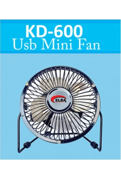 """Elba Kd-600 Metal 6"""" Usb Vantilatör Siyah"""