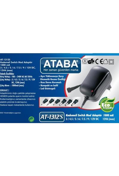Ataba At-1312S 3-12V 1000Mah Kademeli Adaptör