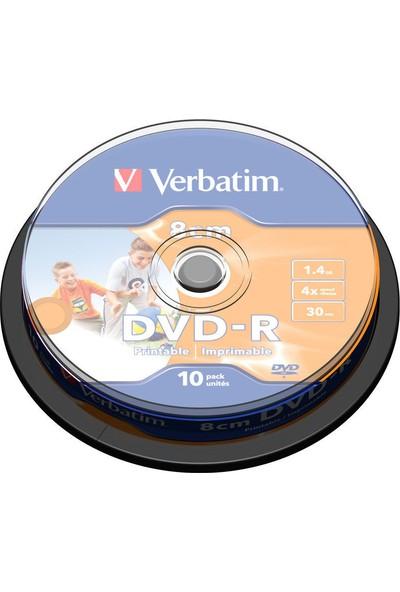 Verbatım 43573 Dvd-R 1.46Gb 4X 10Lu 8Cm Prıntable