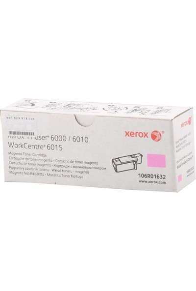 Xerox Phaser 6000-6010-6015 Magenta Toner 1000Sy