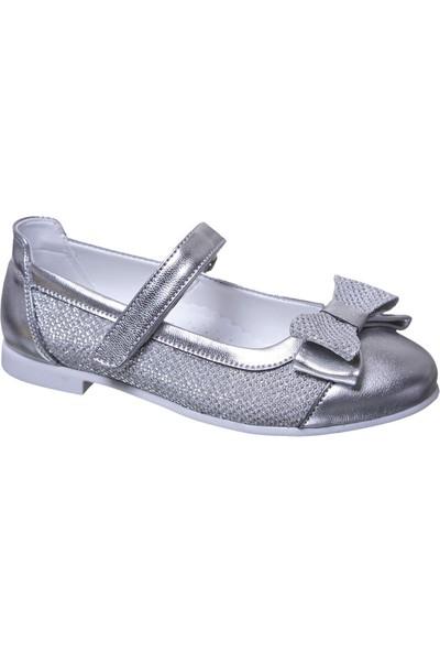 Sanbe Cırtlı Kız Babet Ayakkabı Lame
