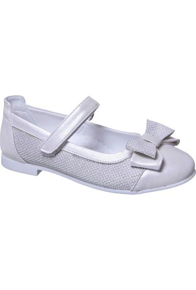 Sanbe Cırtlı Kız Babet Ayakkabı Sedef