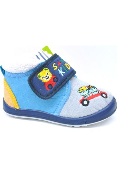 Sanbe Cırtlı Panduf Erkek Ayakkabı Gri