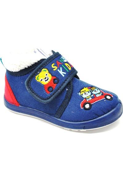 Sanbe Cırtlı Panduf Erkek Ayakkabı Lacivert