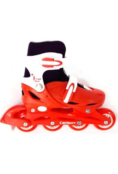 Kırmızı Kız Can Sport Plastik Ayarlanabilir Paten (35-38)-(39-42)