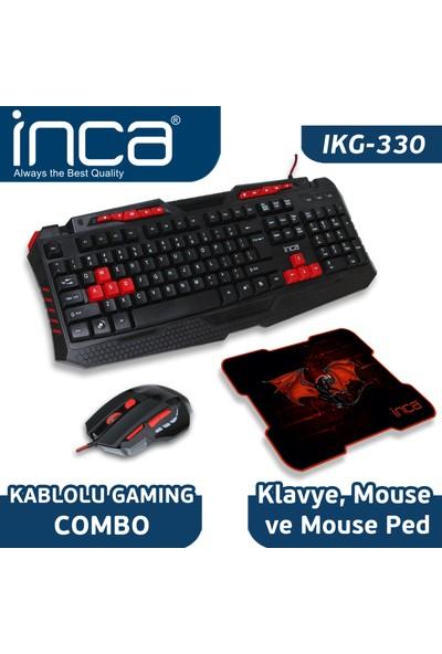 Inca IKG-330 Türkçe Gaming Combo Set(Oyuncu Klavye + Mouse + Mousepad