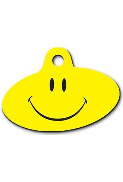 Dalis Pet Tag - Smile Desenli Elips Kedi Köpek Künyesi
