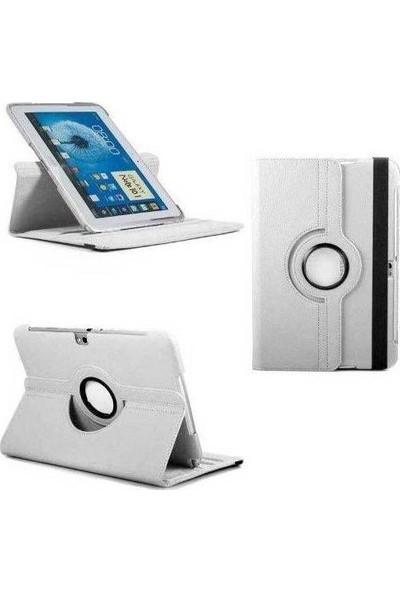 Bordo İpad Air 2 360° Dönebilen Beyaz Tablet Kılıfı