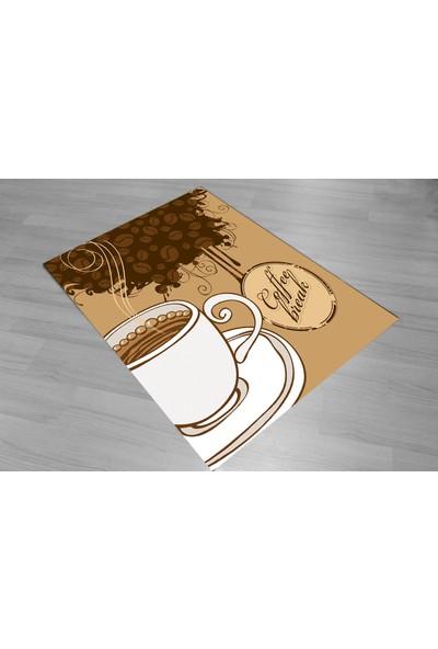 Jungle Cofffe Cup Mutfak Halısı