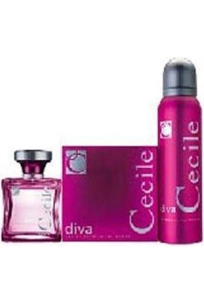 Cecile Diva 100Ml Edt Kadın Parfüm + 150Ml Deodorant Set