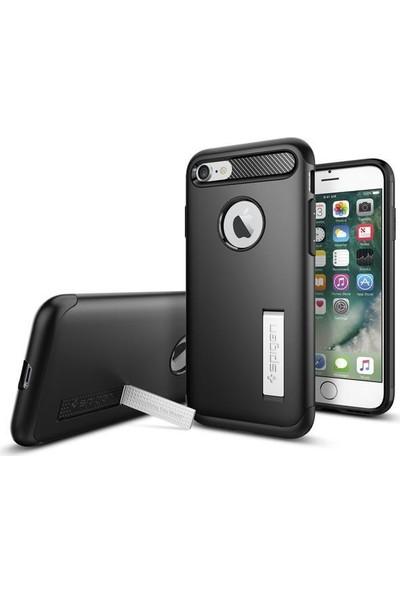 Spigen Apple iPhone 8 - iPhone 7 Kılıf Slim Armor Black 042CS20647