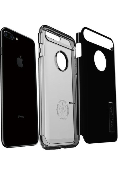 Spigen Apple iPhone 8 Plus - iPhone 7 Plus Kılıf Slim Armor Jet Black 043CS20851
