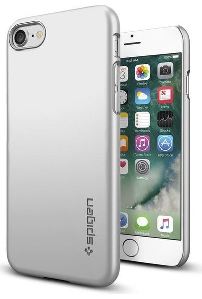 Spigen Apple iPhone SE 2020 / iPhone 8 / iPhone 7 Kılıf Thin Fit Satin Silver 042CS20733