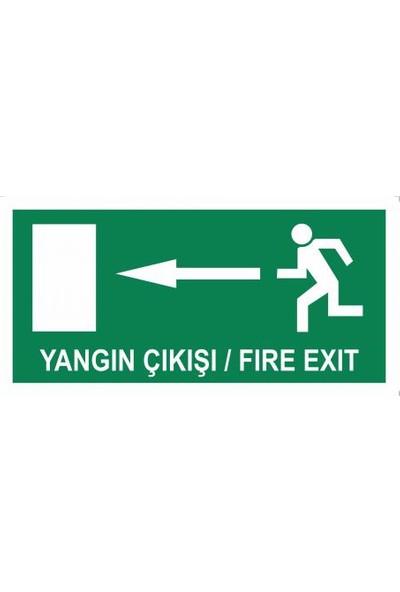 """Modülerteknik """"Yangın Çıkışı Fire Exit Sol"""" 10X25cm"""