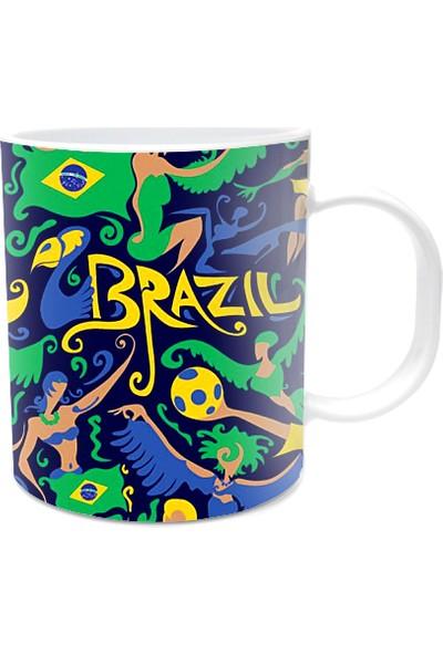 Fotografyabaskı Brezilya Karnavalı Beyaz Kupa Bardak Baskı