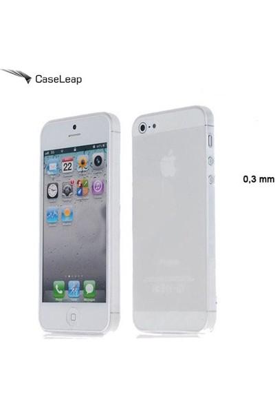 Case Leap İphone 5/5s/Se İnce Silikon Kılıf Şeffaf + Cam