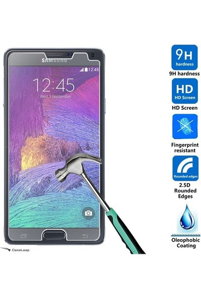 Case Leap Samsung Galaxy Note 5 İnce Silikon Kılıf Şeffaf+ Cam
