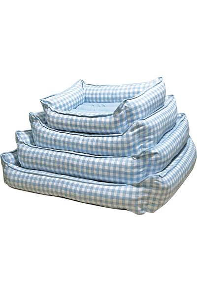 Bronza Soft Kedi-Köpek Yatağı No: 3 60x70x15 Mavi