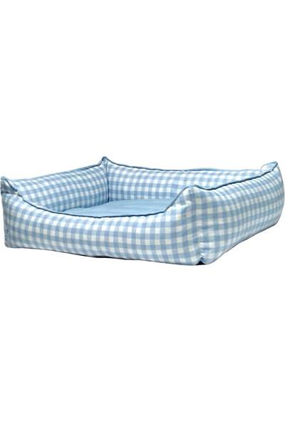 Bronza Soft Kedi-Köpek Yatağı No: 4 70x80x15 Mavi