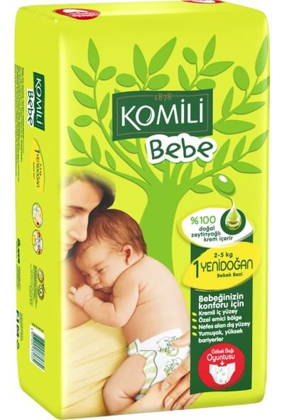 Komili Bebe Bebek Bezi 1 Beden Yenidoğan İkiz Paket 40 Adet