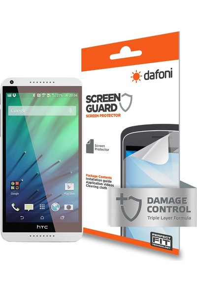 Dafoni HTC Desire 816 Darbe Emici Ekran Koruyucu Film