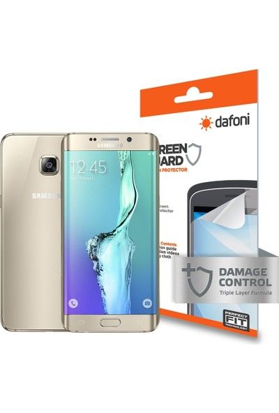 Dafoni Samsung Galaxy S6 Edge Plus Ön + Arka Darbe Emici Full Ekran Koruyucu Film