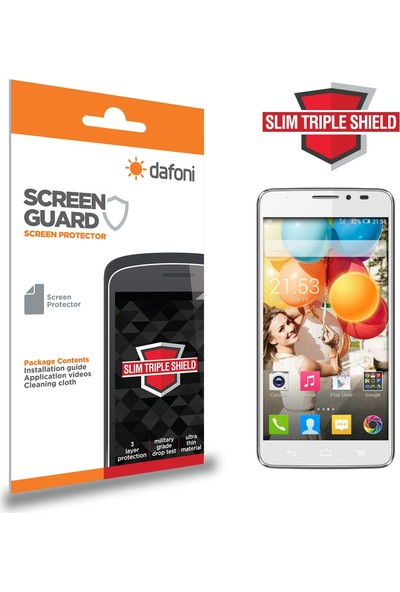 Dafoni General Mobile Discovery 2 Slim Triple Shield Ekran Koruyucu