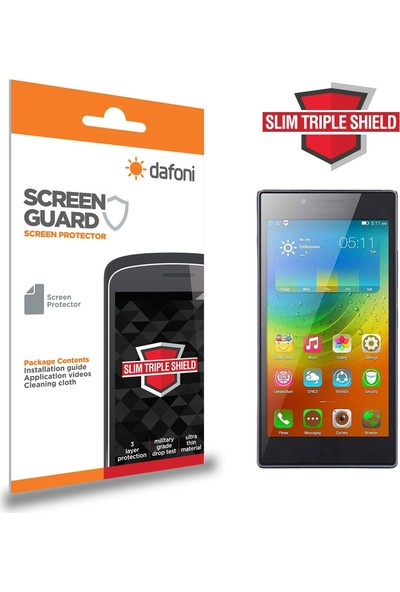 Dafoni Lenovo P70 Slim Triple Shield Ekran Koruyucu