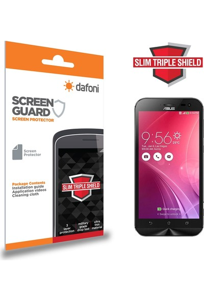 Dafoni Asus Zenfone Zoom Slim Triple Shield Ekran Koruyucu