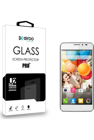Eiroo General Mobile Discovery 2 Tempered Glass Cam Ekran Koruyucu