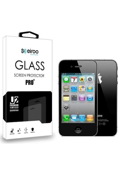 Eiroo iPhone 4 / 4S Ön + Arka Tempered Glass Cam Ekran Koruyucu