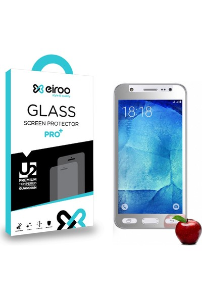 Eiroo Samsung Galaxy J5 Tempered Glass Ayna Cam Ekran Koruyucu