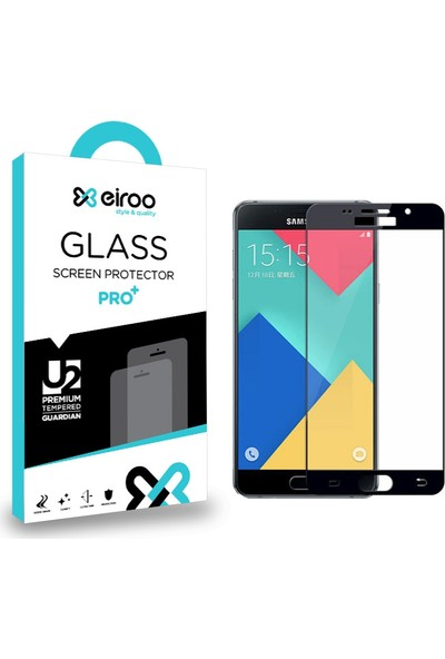 Eiroo Samsung Galaxy A3 2016 Curve Tempered Glass Full Cam Ekran Koruyucu