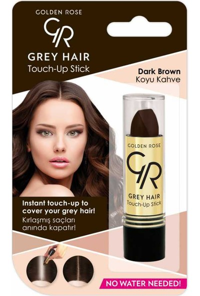 Golden Rose Gray Hair Touch-up Beyaz Saç Kapatıcı Stick (Koyu Kahve)