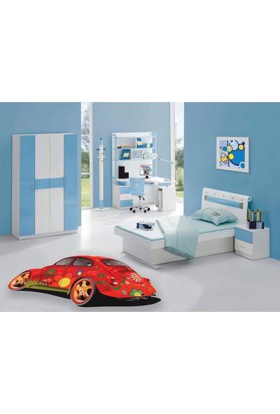 iHouse Çocuk Odası Halısı Kırmızı