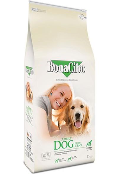 BonaCibo Adult Dog Lamb Rice Taze Kuzu Etli ve Pirinçli Yetişkin Köpek Maması 15 KG