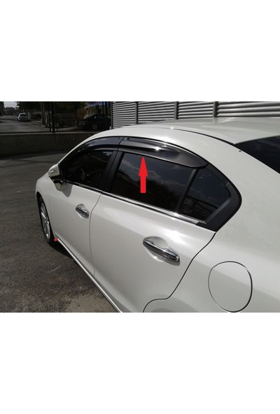 Civic Honda 2012 - Sonrası Mugen Cam Rüzgarlığı ( 4 Parça )
