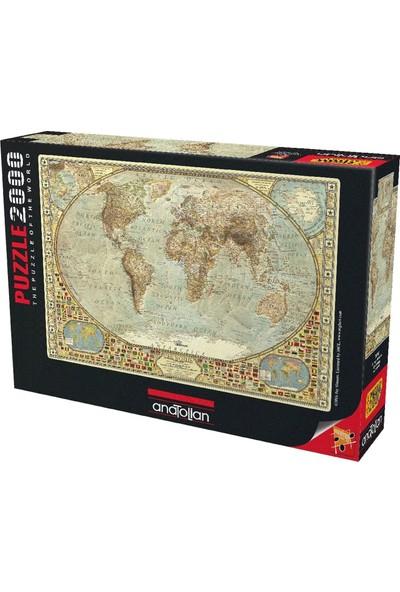 Anatolian 2000 Parça Dünya Haritası Puzzle