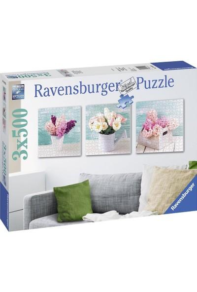 Ravensburger 3x572 Parça Çiçekler Puzzle (3'lü Kare Puzzle)
